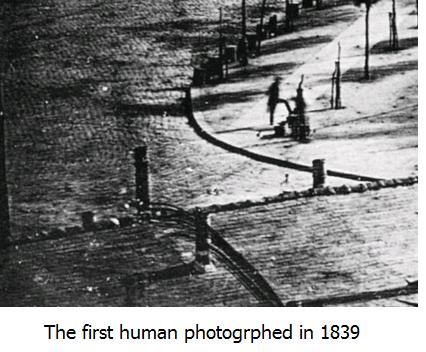 camera capturing human being