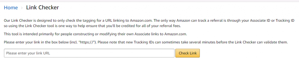 link-checker-1024x214 Amazon Affiliate Program Information Discussed In Detail