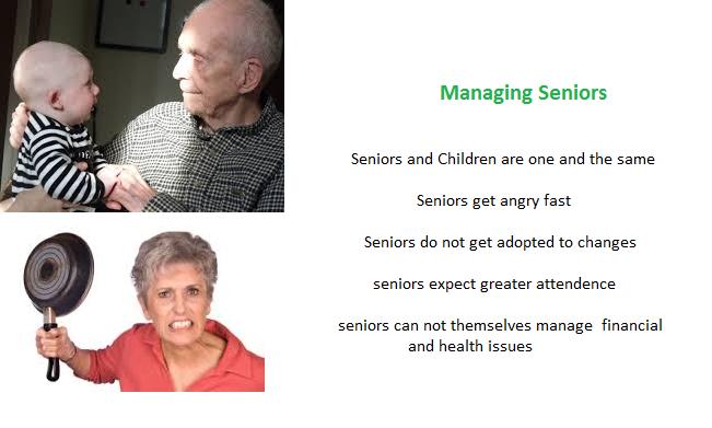 managing seniors