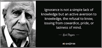 ignorance and laziness obstructs  healthy living