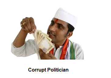 corrupt politician