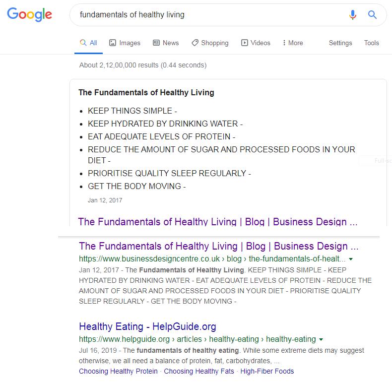 fundamentals of healthy living